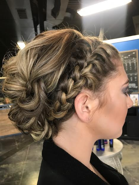 bridal hair with french braiding