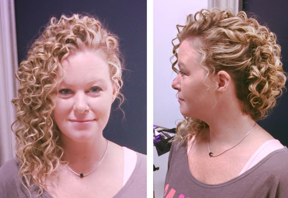 curly sideswept bridal hairdo