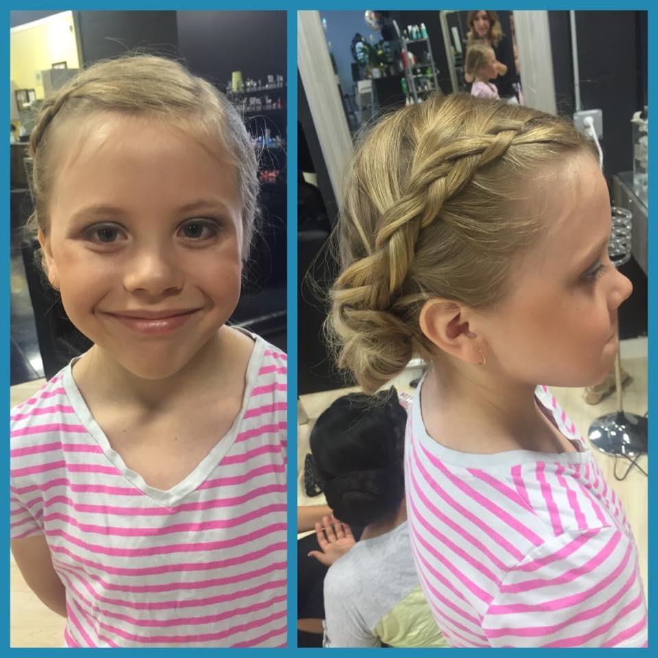 little girl bridal hair