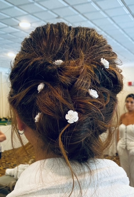 Brunette with intricate bun