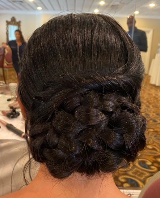 Very intricate braid and bun
