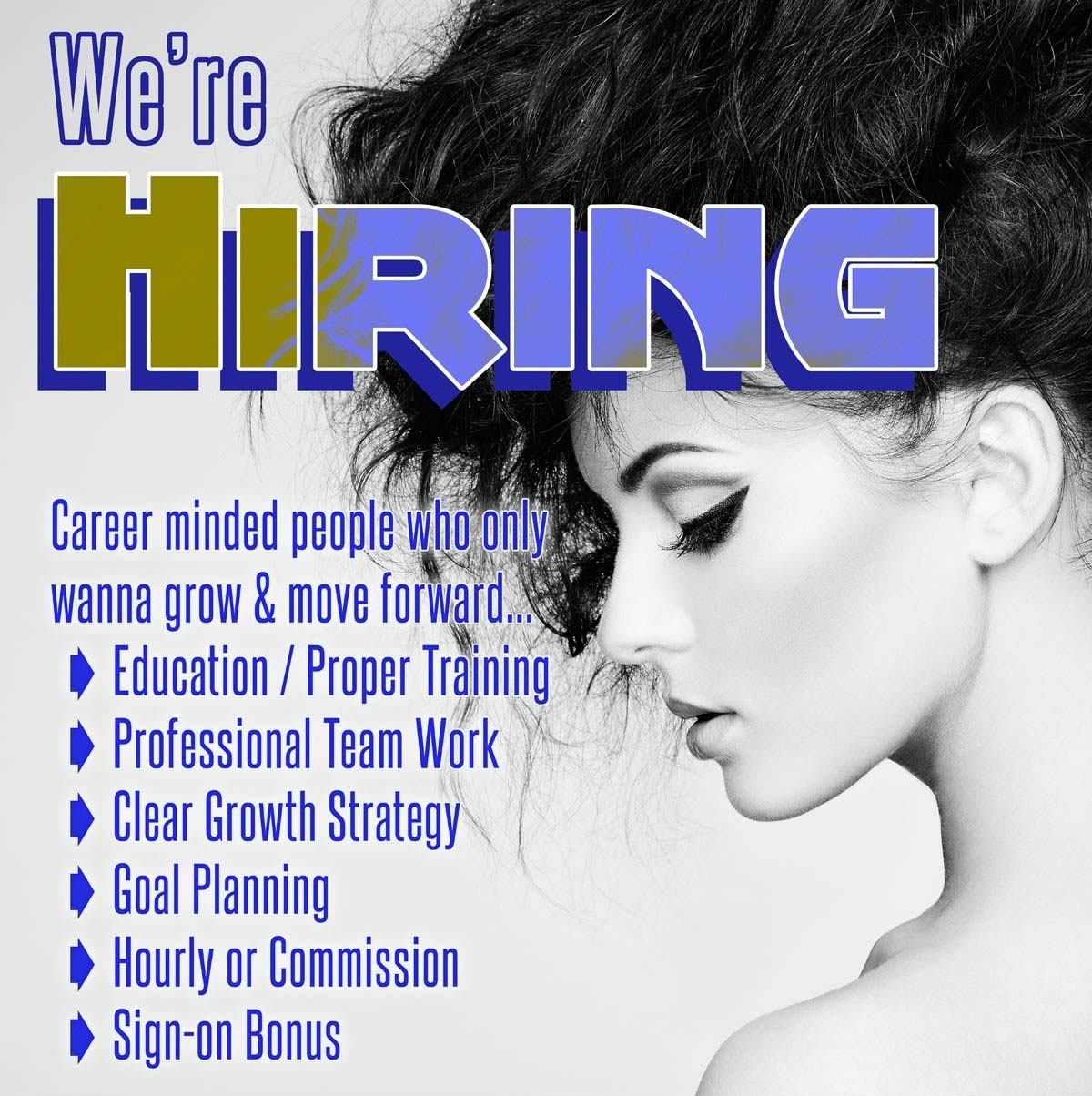 Blu is hiring stylists